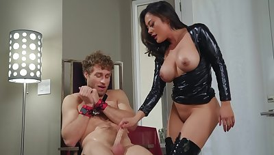 Dominant Asian milf sits on the cock and rides it hard