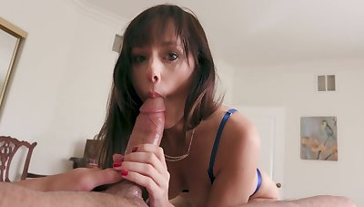 Hot mommy feels amazing when sucking her son's dong