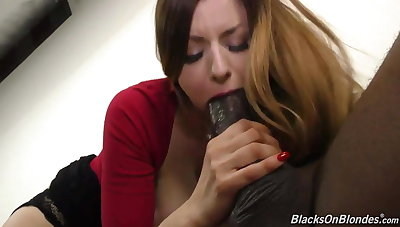 Busty girl Stella suck and fuck monster black cock