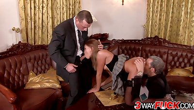 Lauryn May Rotates Her Holes Between Two Lucky Gentlemen