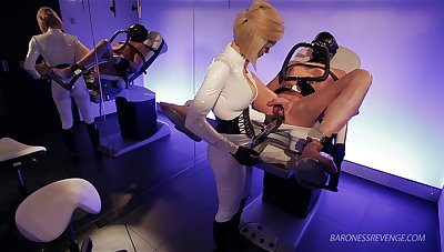 Mistress Baroness Davina Launder punishes duteous dude in make an issue of gynecological chair