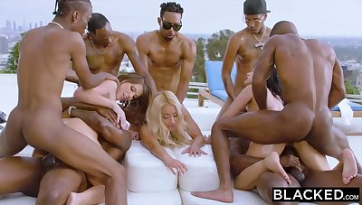 Teanna Trump, Adriana Chechik and Vicki Pursue are orgying during a vacation, with dark-hued men