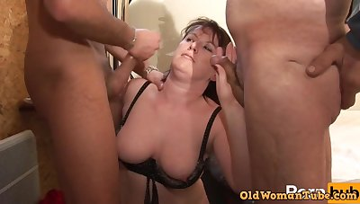 Meticulous Amateur Chubby Mature DP Threesome fucked constant