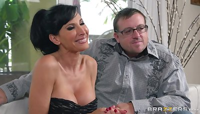 Cuckold economize on watches a stranger fucking his sexy wife Lezley Zen