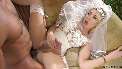 Transsexual braid Aubrey Kate is fucked with an increment of jizzed away from bisexual husband