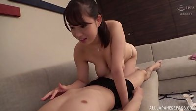 Massive tits Japanese makes hard dick disappears in her mouth