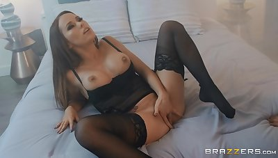 Megan Rain wears sexy lingerie for fucking with her handsome friend